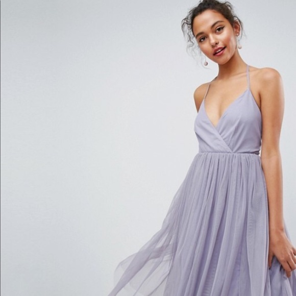 47e11bed68fd57 ASOS Dresses   Skirts - ASOS pinny extreme tulle mesh midi dress size 2